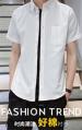 短袖时尚衬衫 新款港风夏季短袖衬衫